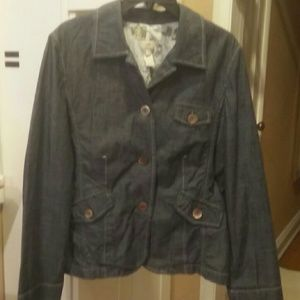 J.JILL women's denim soft jacket/blazer